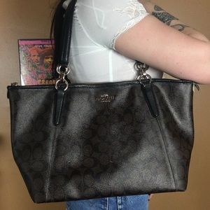 COACH / Brown and Black Tote